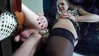 Sexy babe lets a whoring guy feel the rage of her butt-ravaging rubber cock videos