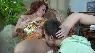 Fiery milf bares her smashing rack aching for a fuck with a younger stud videos